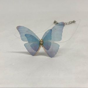 Butterfly necklace, invisible  choker